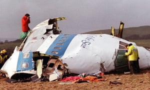 The wrecked cockpit of Pan Am 103 outside Lockerbie, Scotland, after the 1988 bombing