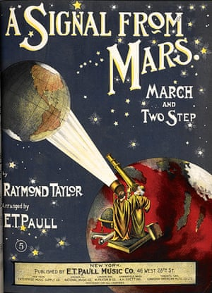 Out of this world: The sheet music cover of Raymond Taylor's, A Signal from Mars, 1901