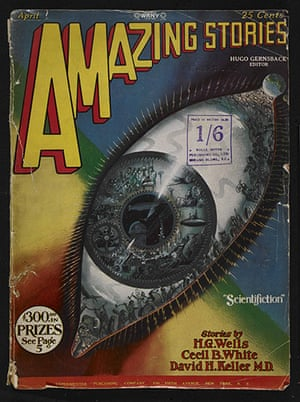 Out of this world: Frank R Paul, April 1928 'Eye' cover for Amazing Stories,