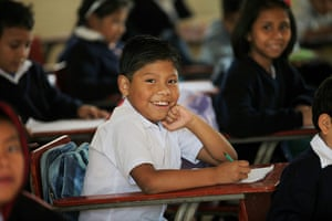 Guatemala Toybox Charity: Happy faces all round in a primary school in the north of the city