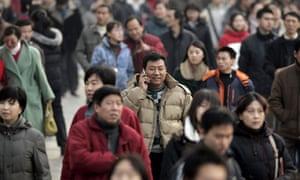 Mobile phone user in Beijing