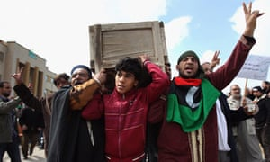 libya protests funeral