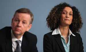 Katharine Birbalsingh with Michael Gove at the Tory Party Conference