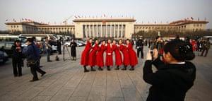 NPC in Beijing: Stewardesses