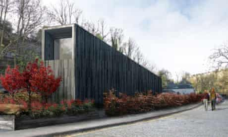 The planned allotment 'hut' at Mackenzie Place near Stockbridge will be redesigned