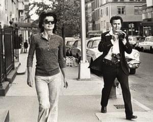 sunglasses: Jackie Onassis Madison Avenue New York, 1971
