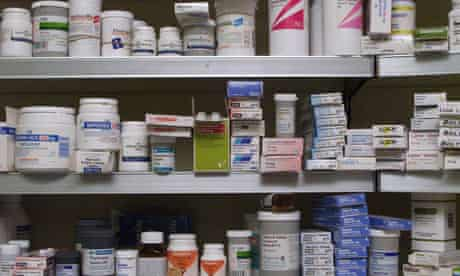 Pharmaceutical drugs in a chemists.