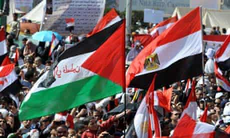 Demonstrators in Tahrir Square, Cairo, Egypt - 04 Mar 2011