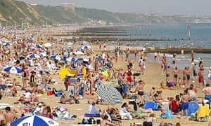 The beach at Bournemouth