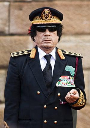 sunglasses: Muammar Gaddafi