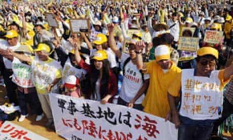 Okinawa protesters