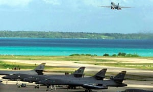 The US military base on Diego Garcia, one of Mauritius's offshore islands