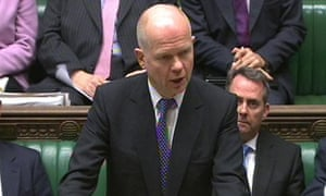 William Hague addresses MPs on Libya