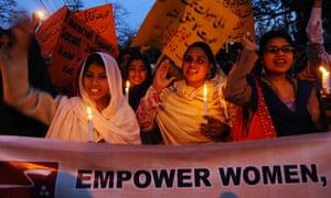 Pakistani women's rights activists
