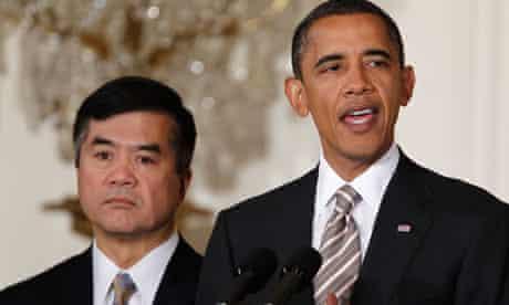 Barack Obama and Gary Locke