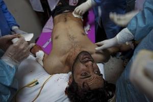 Sean Smith: 2 March: A man injured during fighting near Brega's university