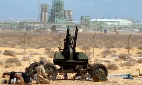 Libyan rebels at Ras Lanuf