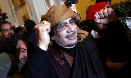 Libyan strongman Gaddafi visits Rixios hotel in Tripoli