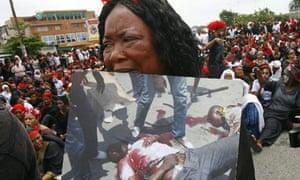 Ivorian women protest in Abidjan, Ivory Coast