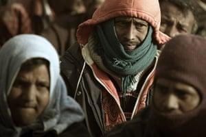 Libya Ras Jdir: Bangladeshi refugees from Libya at the Choucha camp in Tunisia