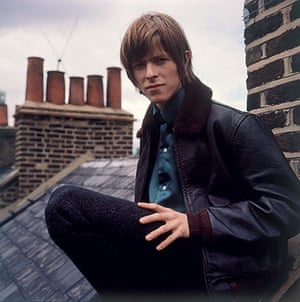 David Bowie: David Bowie is photographed on the roof of 39 Manchester Street