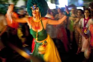 from the agencies : Mameludicos Euforicos street carnival parade in Rio de Janeiro