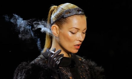 Kate Moss at Marc Jacobs show in Paris