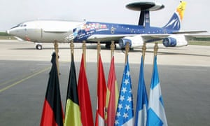 A Nato surveillance plane (file photo)
