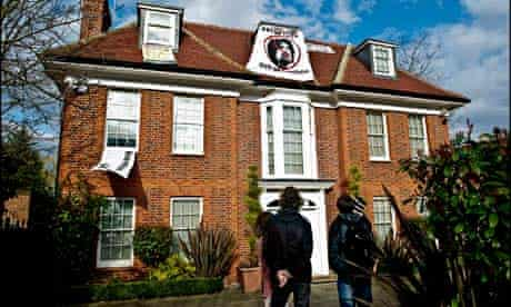 Saif Gaddafi's house in Hamsptead seized by protesters