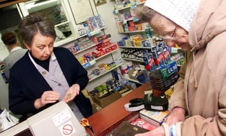 Customers paying for prescriptions