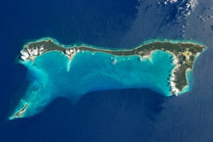 Satellite Eye on Earth: Cat Island is one of 29 islands of Commonwealth of the Bahamas