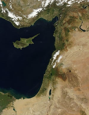Satellite Eye on Earth: Late winter snows covered the mountains of Lebanon and Turkey