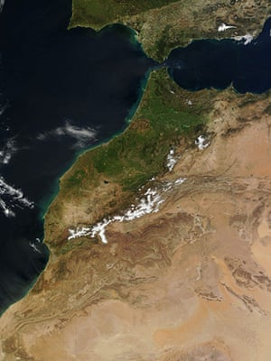Satellite Eye on Earth: Morocco