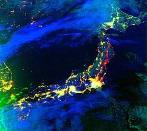 Satellite Eye on Earth: Japan earthquake : loss of electricity