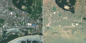 Satellite Eye on Earth: Japan earthquake : Rikuzentakata before and after