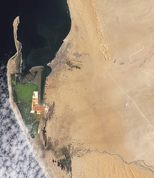 Satellite Eye on Earth: Kunene (or Cunene) River in the north to the Orange River in the south