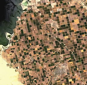 Satellite Eye on earth: Imperial Valley in the desert region of Southern California , US