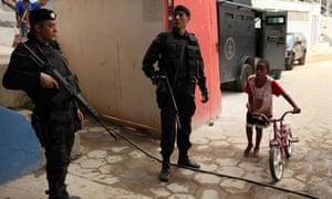 Police in a Rio favela