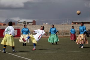 24 hours in pictures: The indigenous women's soccer teams compete, Bolivia