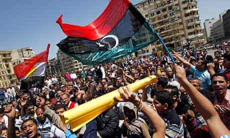 Egyptians continue to protest in Tahrir Square, Cairo