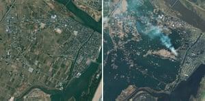 Japan disaster 1 month on: Satellite images of Natori, Miyagi Prefecture, northeastern Japan