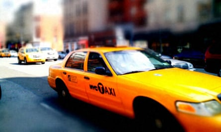 Taxis in New York City. Photograph: Paul Owen