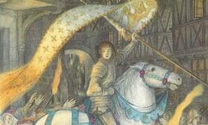 Angela barrett illustration of Joan of Arc