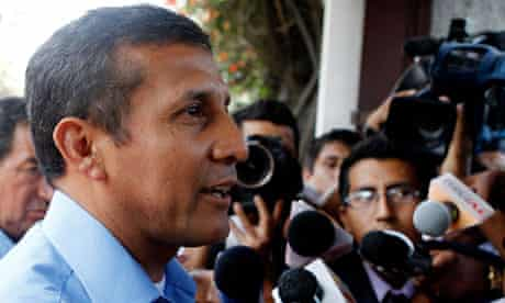 Perus presidential candidate Ollanta Humala