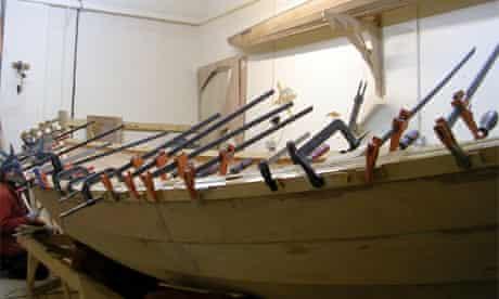 The skiff under construction | Photo: Morag Edward