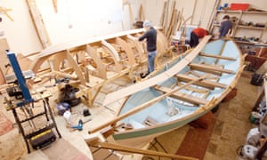 The two skiffs. In November, Icebreaker returned to the shed to have new pins and kabes fitted | pic: Max Blinkhorn