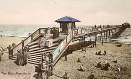 A postcard picture of Portobello pier