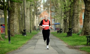 Dave Hill is preparing for the London marathon by running through every borough in the capital.