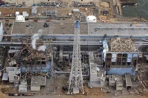 Fukushima disaster: 20 March: The stricken Fukushima nuclear power plant reactor