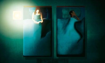 Sleeping together illustration